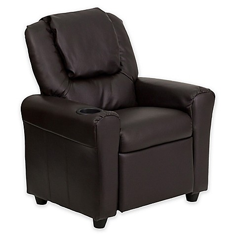 flash furniture leather kids recliner with headrest and