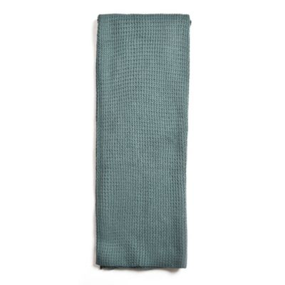 Amity Home Drake Cotton Knitted Throw Blanket in Teal