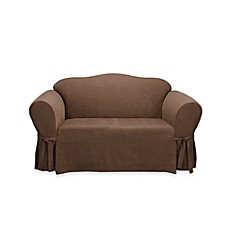 Sure Fit® Soft Suede Loveseat Furniture Cover