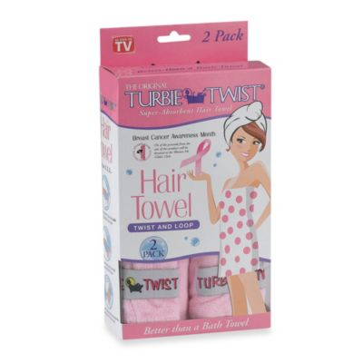 The Original Turbie Twist® Super-Absorbent Hair Towel in Pink (Set of 2)