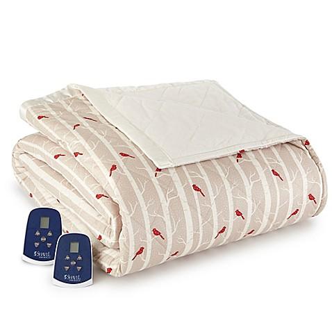 Micro Flannel 174 Cardinals Electric Heated Comforter Blanket