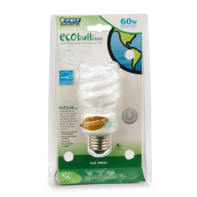 CFL Light Bulb 60-watt Mini Twist Ecobulb Plus