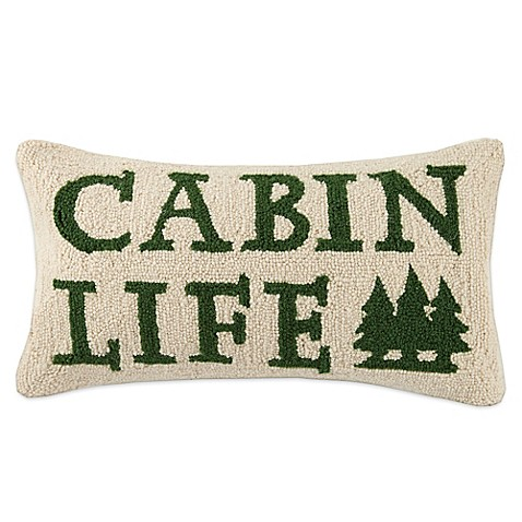 Throw Pillows Meaning : Buy Lodge Hook Rectangle Cabin Life Throw Pillow in Green from Bed Bath & Beyond
