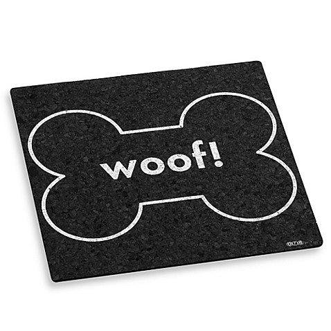 """Woof!"" Bone Square Placemat"