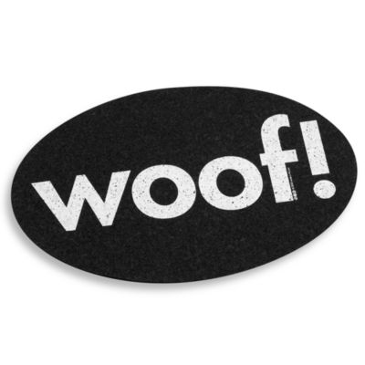 "Black ""Woof"" Placemat"