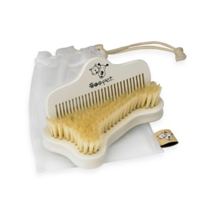 Maple Wood Pet Brush and Comb Set