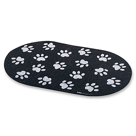 Jumbo Recycled Rubber Paw Print Placemat