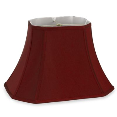 "Burgundy Cut Corner Rectangular 18"" Lamp Shade"