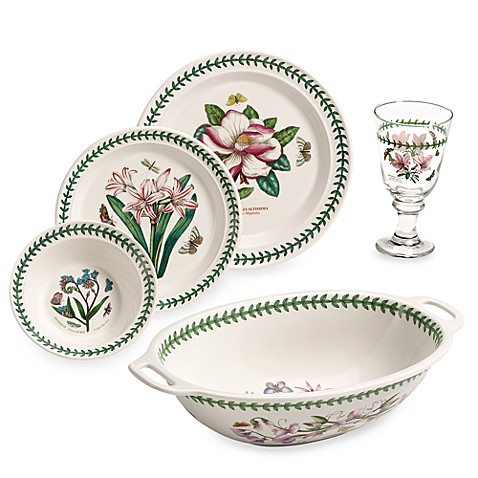 Portmeirion botanic garden 17 piece dinnerware set www for Portmeirion dinnerware set of 4 botanic garden canape plates