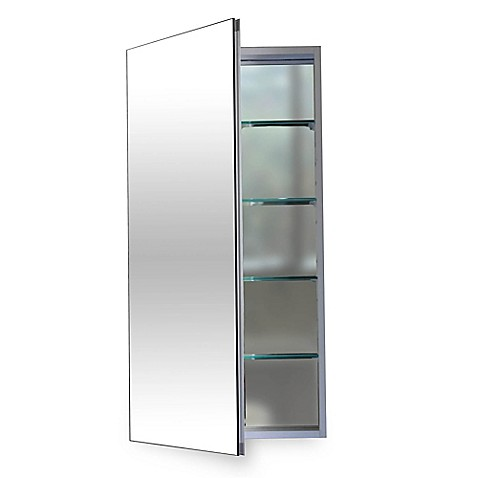 12 inch x 36 inch medicine cabinet in silver from bed bath beyond