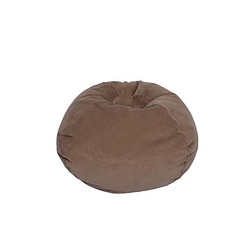 buy medium solid corduroy bean bag chair in taupe