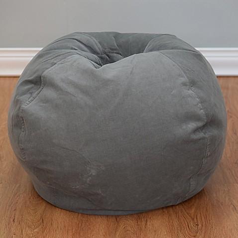 buy medium solid corduroy bean bag chair in vintage slate