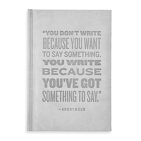 Eccolo™ You've Got Something to Say Journal