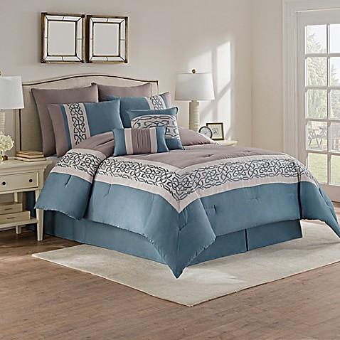 Dorsey comforter set in grey green bed bath beyond - Green and grey bedroom ...