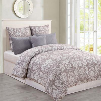 buy light grey comforters bedding sets from bed bath beyond. Black Bedroom Furniture Sets. Home Design Ideas