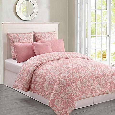 Buy Kensie Lola Oversized King Comforter Set In Blush From