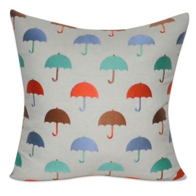 Loom & Mill Umbrellas Square Throw Pillow
