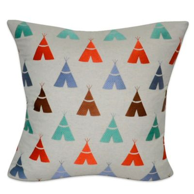 Loom & Mill Linen Blend Teepee Square Throw Pillow