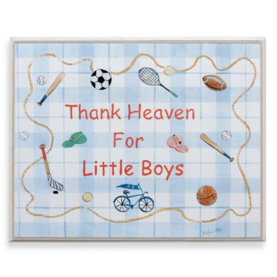 Thank Heaven for Little Boys Wall Plaque