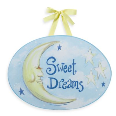 Sweet Dreams Moon Wall Plaque