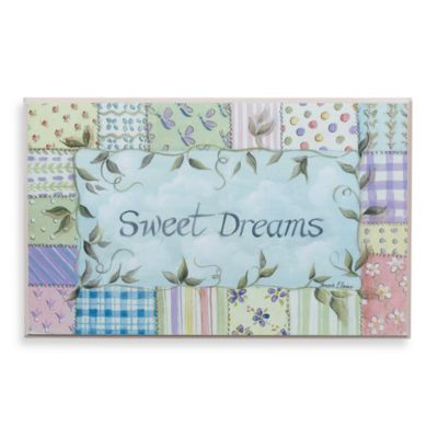 Sweet Dreams Patchwork Wall Plaque