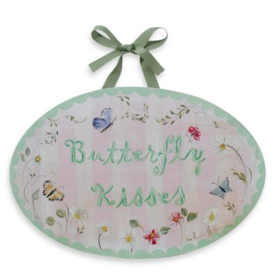 Butterfly Kisses Wall Plaque