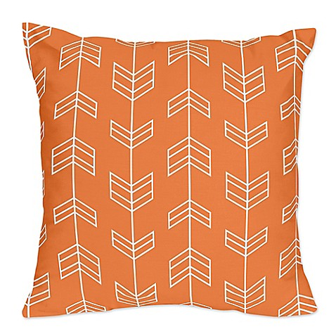 Orange Throw Pillows For Bed : Sweet Jojo Designs Arrow Print Throw Pillows in Orange/White (Set of 2) - Bed Bath & Beyond