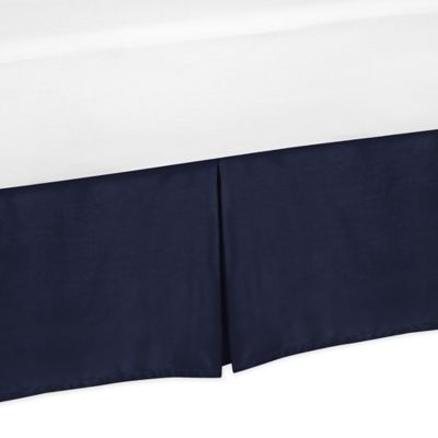 Sweet Jojo Designs Arrow Full/Queen Bed Skirt in Navy