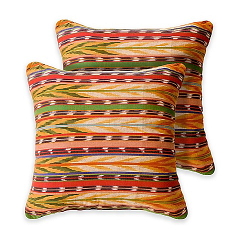 Arlington 18-Inch Square Throw Pillows in Yellow (Set of 2) - Bed Bath & Beyond