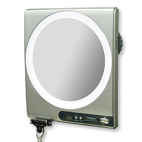 Z-Foot Fogless 5X/1X Power Zoom Lighted Shower Mirror