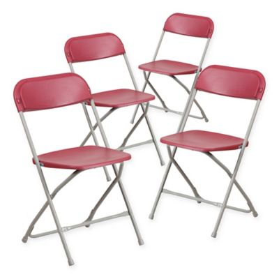 Buy Hawthorne Folding Sling Chairs In Red Set Of 2 From