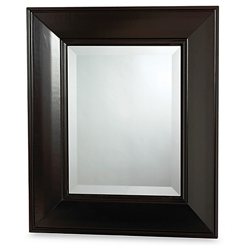 Buy espresso concave frame medicine cabinet from bed bath beyond for Espresso bathroom medicine cabinet