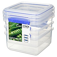 Sistema® KLIP IT® 1.2-Liter Lunch Plus Food Storage Containers