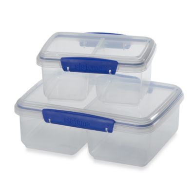 Sistema® KLIP IT® 2-Liter Split Food Storage Container