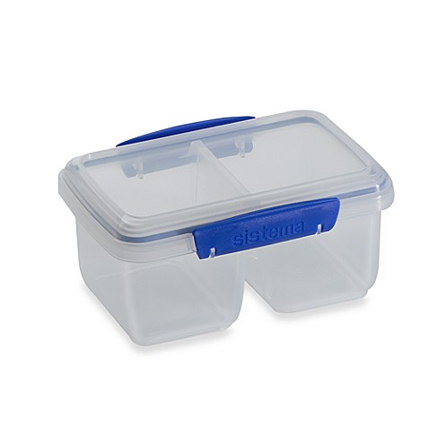 Sistema® KLIP IT® I-Liter Split Food Storage Container