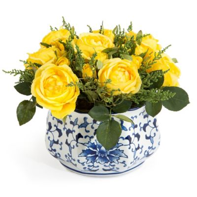 John-Richard 9-Inch Lemon Drops Floral Arrangement in Yellow