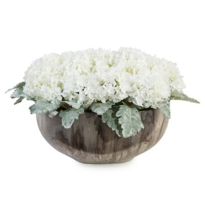 John-Richard 12-Inch Moonglow Floral Arrangement in White