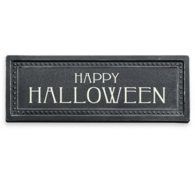 "Metal ""Happy Halloween"" Plaque"