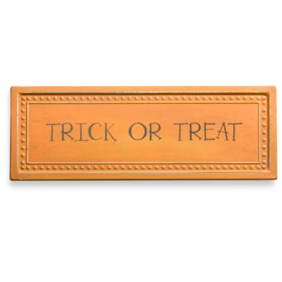 "Metal ""Trick Or Treat"" Plaque"