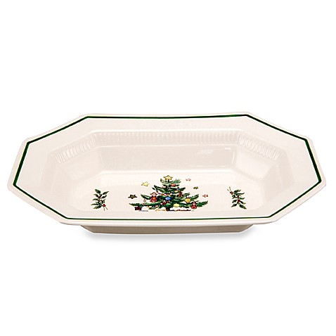 Nikko Christmastime 10 1/2-Inch Oval Vegetable Bowl