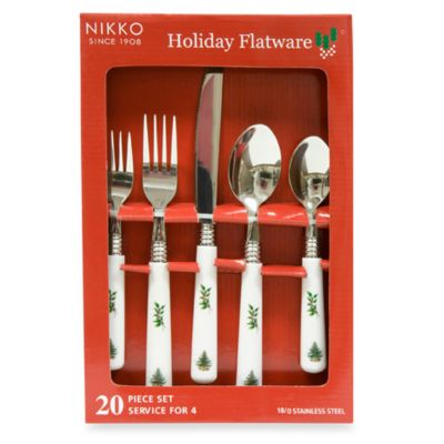 Nikko Christmas Time 20-Piece Flatware Set