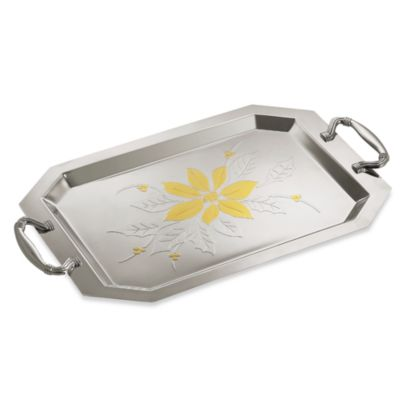 Gorham® Estate Holiday Poinsettia Metal Tray
