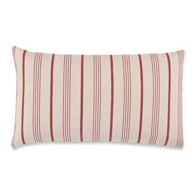 Spearmint Oblong Throw Pillow in Red
