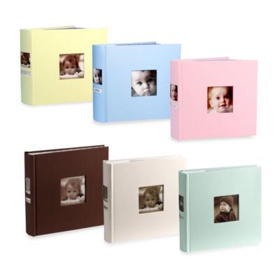 Side Photo Baby Album in Blue