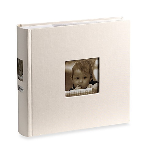 Side Photo Baby Album in Ivory