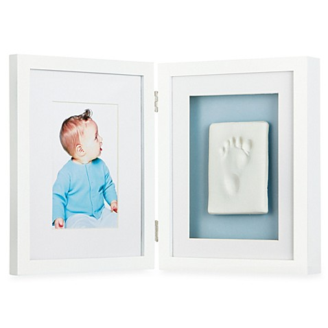 White Shadowbox BabyPrints™ Baby Imprint and 4-Inch x 6-Inch Photo Frame