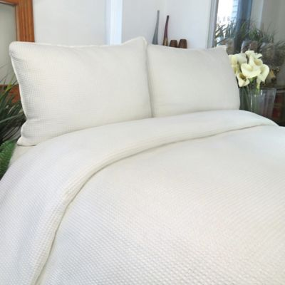 Park B. Smith® Spa Cotton King Duvet Cover Set in Ivory