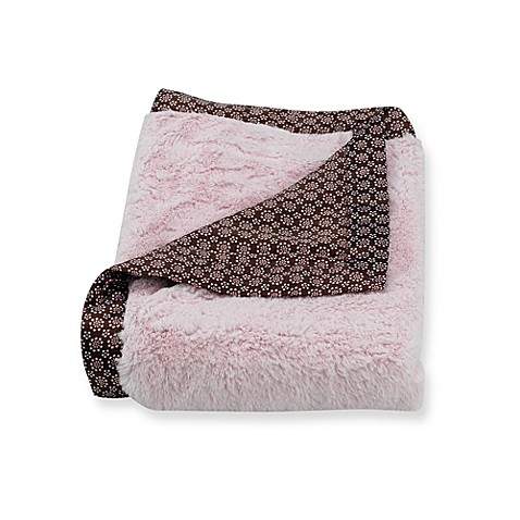 Carter's ®Everyday Easy Fur with Satin Blanket in Pink/Brown