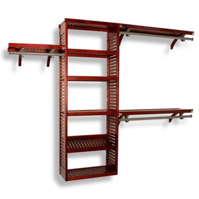 Premier Red Mahogany Closet System