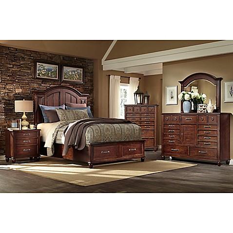 Klaussner Blue Ridge 5 Piece Bedroom Set In Cherry Bed